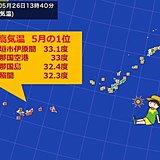 暑いぞ沖縄 記録的な気温