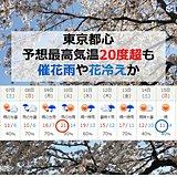 東京も気温差大 桜開花頃に寒気か 冬コートいつまで