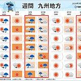 九州 4週連続、土曜日の雨 天気変化早い