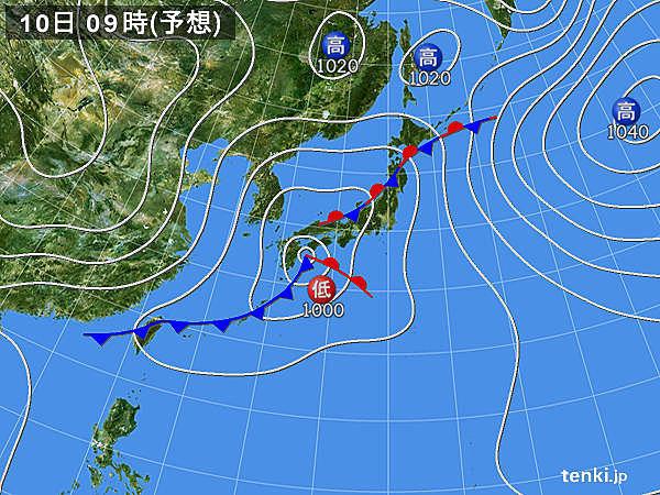 低気圧や前線が通過 全国的に本降りの雨 風の強まる所も