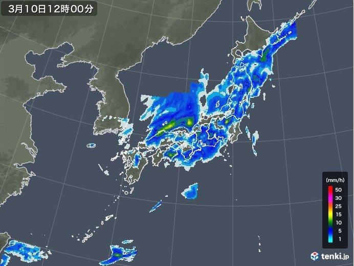 午前 西日本で雨脚強まる
