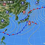 10日 ダブル低気圧 太平洋側は非常に激しい雨も