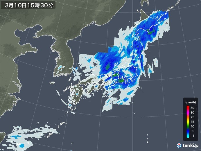 雨雲は次第に東へ 午後は近畿から北海道にかけて雨脚強まる