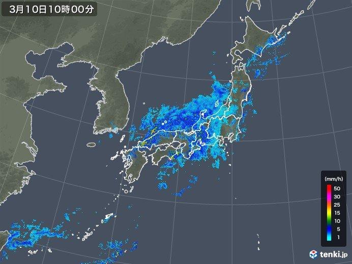 長崎や高知で3月としては記録的な雨に