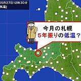 札幌 平年より高いのに5年振り低温?
