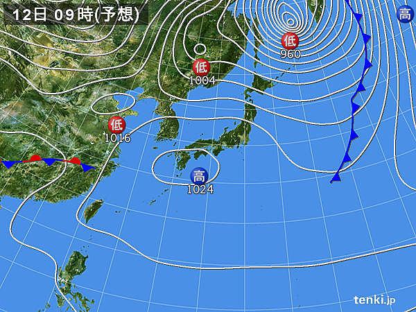 あす12日(木) 全国的に穏やか 北海道も日差しが戻る