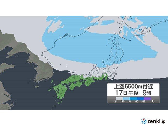 日本海側 夕方以降はカミナリ雲が発生