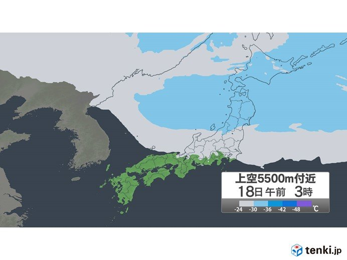 18日(水) 北陸は昼前まで天気急変に注意