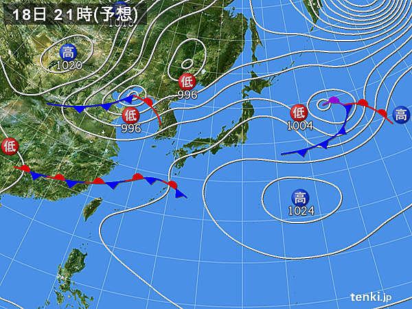 日中は広く晴れる 沖縄は午後は雨