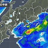 関東 帰宅時ザーザー降り 横なぐりの雨や激しい雨も