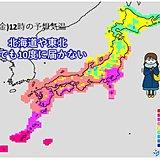 あすは日本海側で気温急降下 海は大しけ 春の嵐に