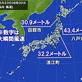 観測史上1位の暴風 青森県八戸市43.4メートル