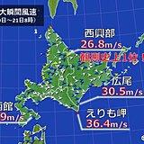 大荒れの北海道 史上1位の暴風も