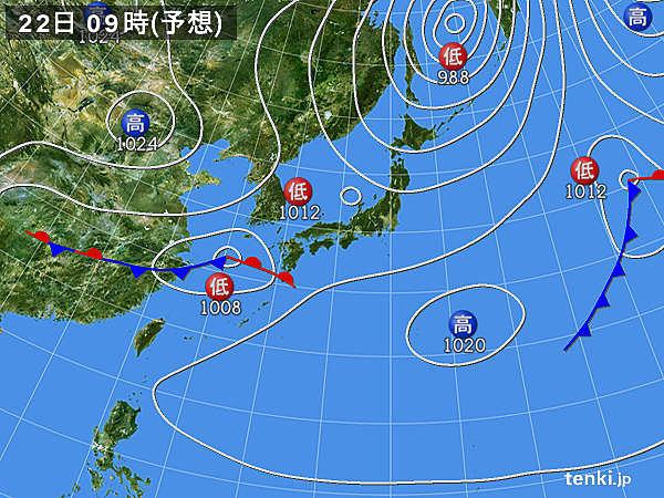 東北や九州は午前中から雨の所も 九州南部で激しい雨 突風の恐れ