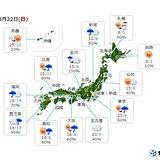 日曜 次第に雨 気温は上昇 関東では6月上旬並みも