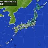 北風強く 空気ヒンヤリ 東京の正午の気温11.1度