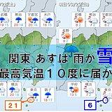 関東 きょうは雨 あすは冬へ逆走 平地も積雪か