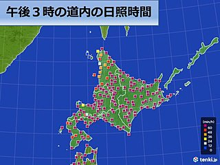 北海道 春に三日の晴れなしというが晴天続く