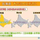 北海道1か月予報 春への歩みは順調 桜前線上陸へ