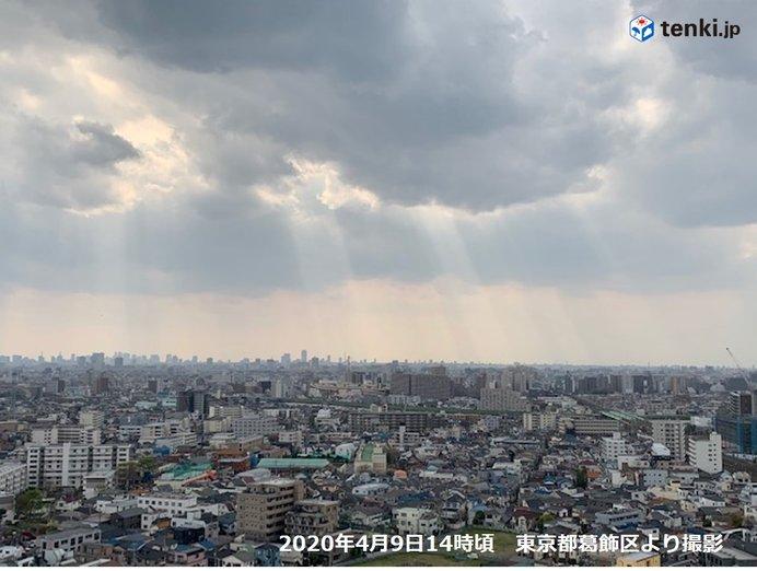 東京都内で「天使のはしご」