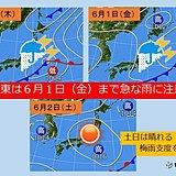 関東 金曜まで急な雨注意 土日は梅雨支度