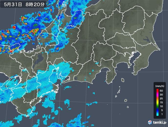 東海地方 雨雲の実況
