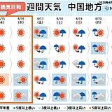 中国地方 木曜日までの晴天を活用しましょう