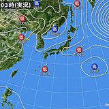16日 北海道はヒンヤリ 関東付近は午後は雷雨