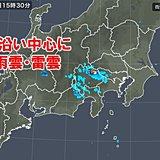 関東甲信 雨雲・雷雲が発達中 夜は平野部も急な雨に注意