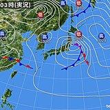 19日 東北・三陸沿岸で大雨、暴風など大荒れ 九州や四国で夜は激しい雨