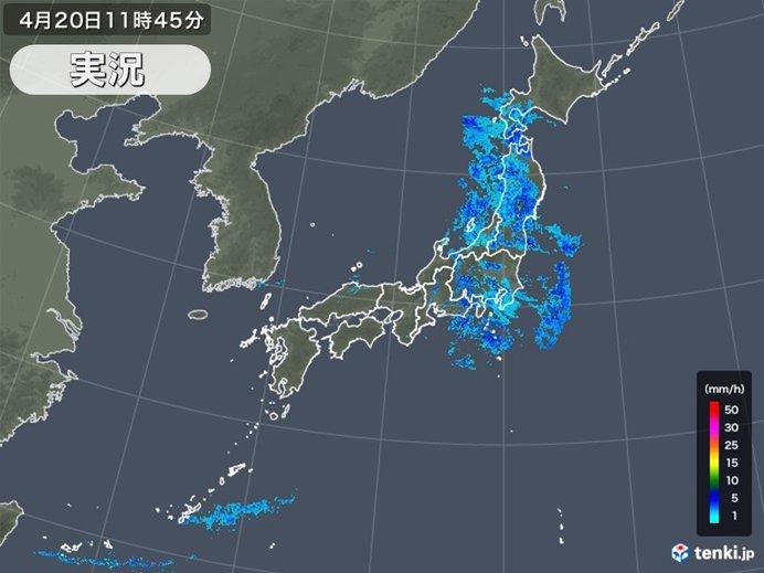 局地的に雨雲発達 午後も強い雨や土砂災害に注意_画像
