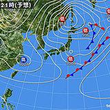 22日 気温急降下 西日本で15度前後の所も 風強まり一層寒い