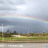 千葉県では虹がかかる 関東 変わりやすい天気