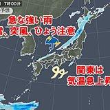 日曜は天気急変 急な強い雨に落雷も 都心は25度予想