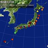 ここ1週間の地震回数 長野で震度3以上続く