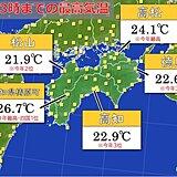 四国地方、きょうも夏日に 週末にかけ気温は更に上昇か