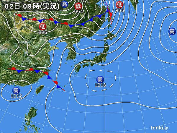 久米島・渡嘉敷島で1時間に20ミリ以上の雨を観測