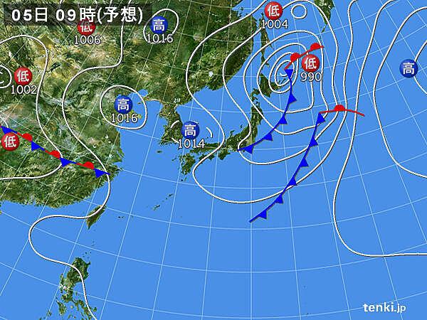 5日こどもの日 天気回復! と思いきや、関東付近で雨雲わく