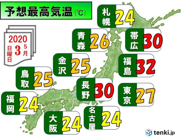 北日本で極端な暑さ 無理せずエアコンの使用を