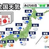 4日みどりの日 新緑潤す雨 STAY HOMEも促す