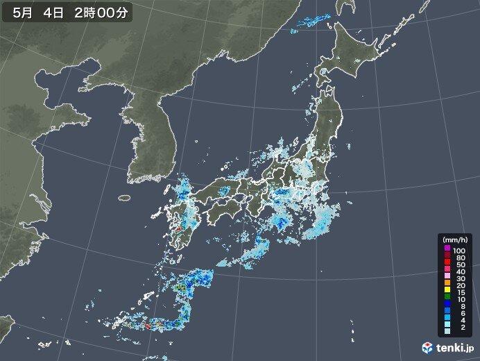 九州で1時間に90ミリ以上の猛烈な雨
