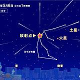 6日明け方はみずがめ座η流星群ピーク 7日夜はフラワームーン