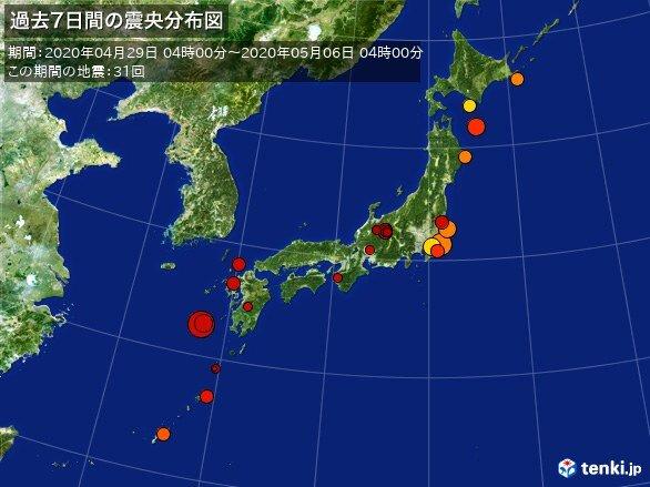 千葉で連夜の震度4 週間地震発生回数_画像