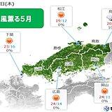 中国地方 きょう・あすは室内でも風薫る5月