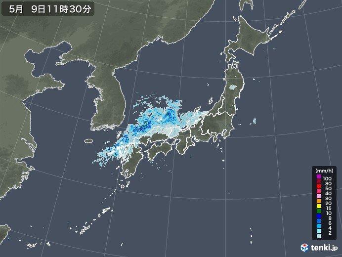 西日本の日本海側や北陸 雨雲がかかり始めました 午後は強雨も