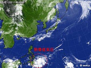 南に熱帯低気圧 「台風1号」発生か