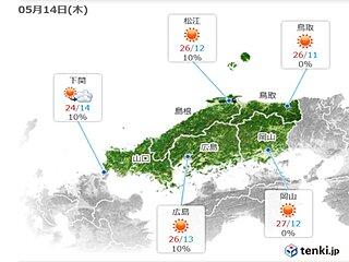 中国地方 きょうは天気の変わり目