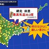 暑い北海道 明日はさらに?