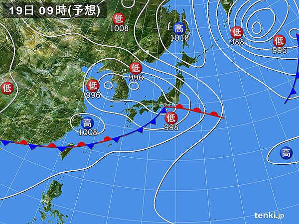 あすの天気 東海と関東 午前中に激しい雨