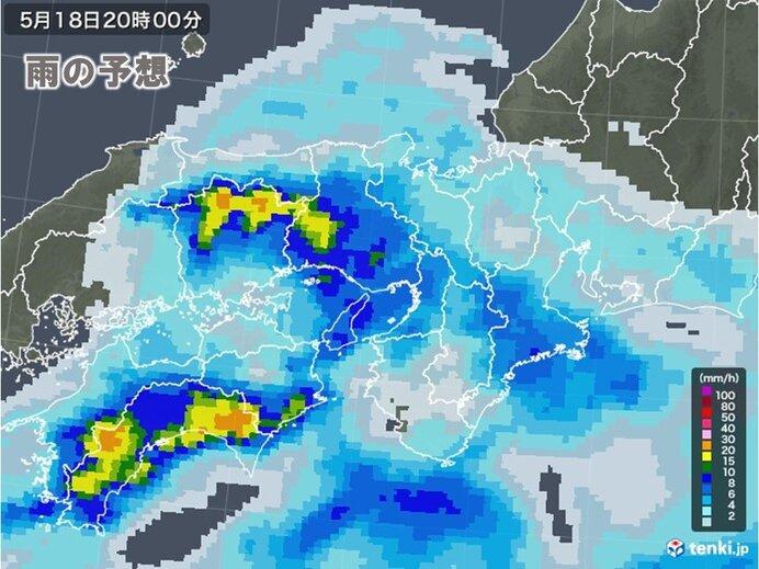 夜にかけて中国・四国地方でも大雨のおそれ